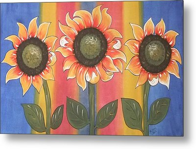 Color Me Sunny Metal Print by Cindy Micklos