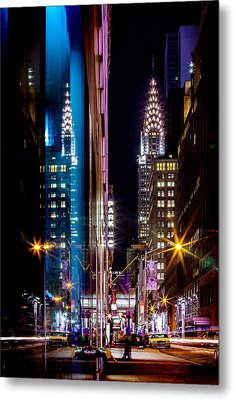 Color Of Manhattan Metal Print by Az Jackson