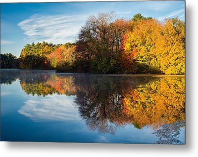 Color On Grist Mill Pond Metal Print by Michael Blanchette
