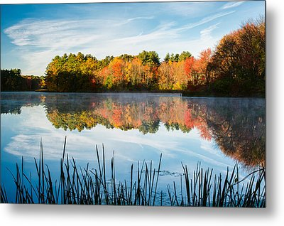 Color On Grist Millpond Metal Print by Michael Blanchette