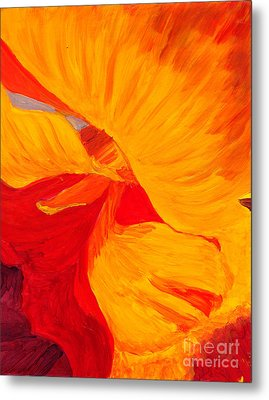 Metal Print featuring the painting Color Orange by Mukta Gupta