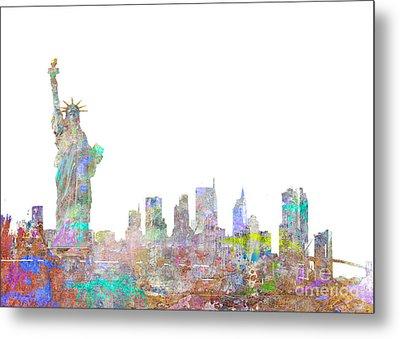 Color Splash New York Metal Print by Aimee Stewart