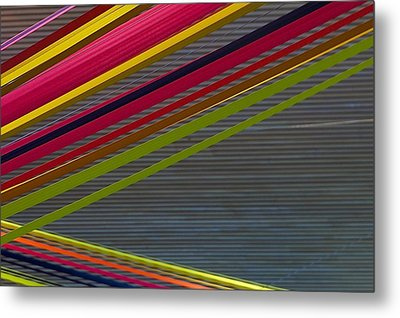 Color Strips Metal Print by Stuart Litoff