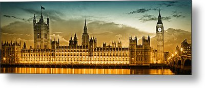 Color Study London Houses Of Parliament Metal Print