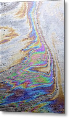 Metal Print featuring the photograph Color Swirl by Geraldine Alexander