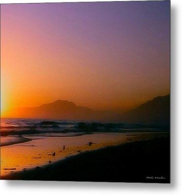 Color Wash Sunset  Metal Print by Debra     Vatalaro