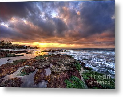 Color Within The Clouds Metal Print by Eddie Yerkish