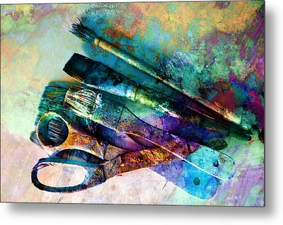 Color Your World Metal Print by Ann Powell