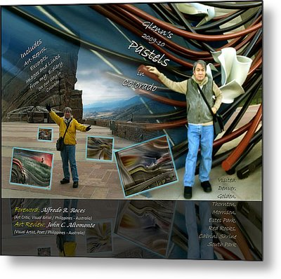 Colorado Art Book Cover Metal Print by Glenn Bautista