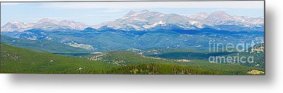 Colorado Continental Divide Panorama Hdr Crop Metal Print by James BO  Insogna