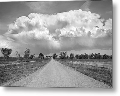 Colorado Country Road Stormin Bw Skies Metal Print by James BO  Insogna