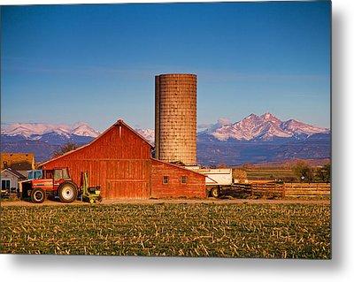 Colorado Farming Metal Print