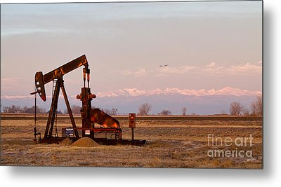 Colorado Oil Well Panorama Metal Print by James BO  Insogna