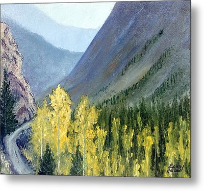 Metal Print featuring the mixed media Colorado Pass by Kenny Henson
