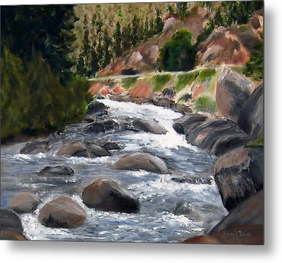 Metal Print featuring the painting Colorado Rapids by Jamie Frier