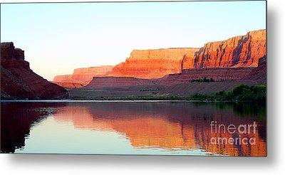 Colorado River At Dawn Panorama Metal Print by Douglas Taylor