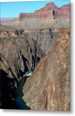 Metal Print featuring the photograph Colorado River From Plateau Point by Scott Rackers
