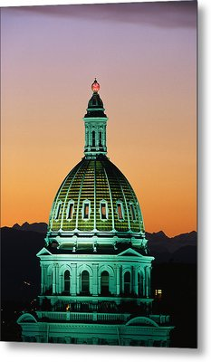 Colorado State Capitol Building Denver Metal Print by Panoramic Images