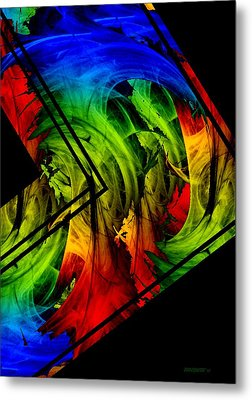 Colored Abstract Art Metal Print by Mario Perez