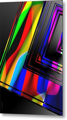Colored Abstract Geometry Metal Print by Mario Perez