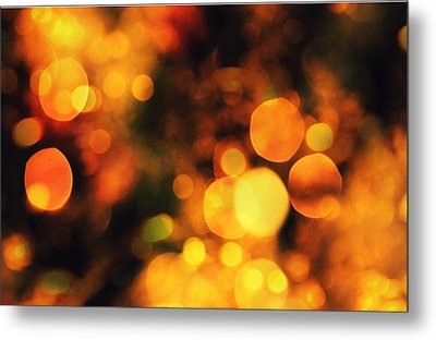 Metal Print featuring the digital art Coloured Bokeh Lights by Fine Art By Andrew David