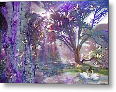 Colored Forest Metal Print by Alixandra Mullins