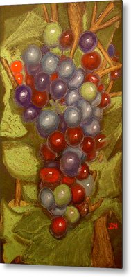 Colored Grapes Metal Print