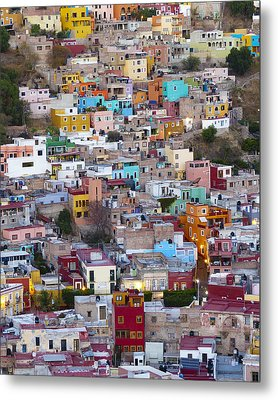 Colored Homes Metal Print by Douglas J Fisher