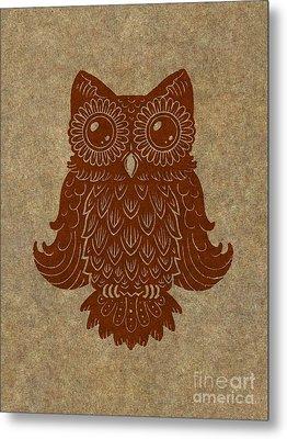 Colored Owl 2 Of 4  Metal Print by Kyle Wood