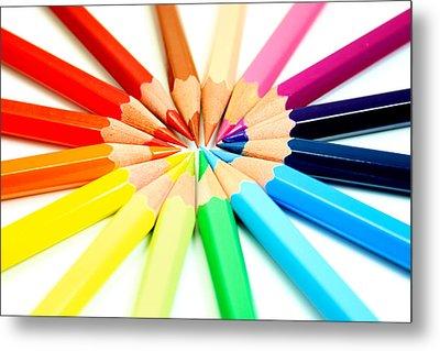 Colored Pencils Metal Print by Michael Tompsett