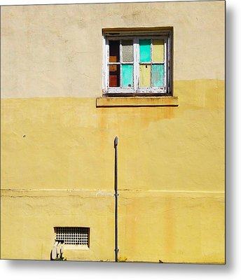 Colored Window Metal Print by Julie Gebhardt
