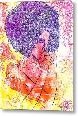 Colored Woman Metal Print by Kenal Louis