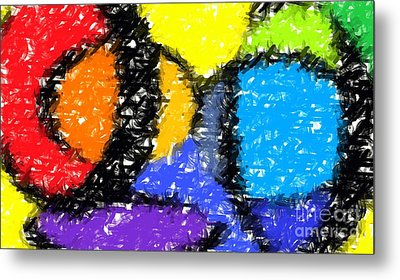 Colorful Abstract 3 Metal Print by Chris Butler