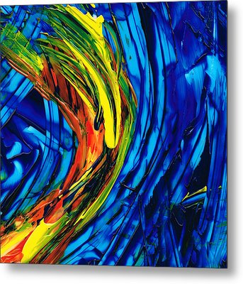 Colorful Abstract Art - Energy Flow 2 - By Sharon Cummings Metal Print by Sharon Cummings