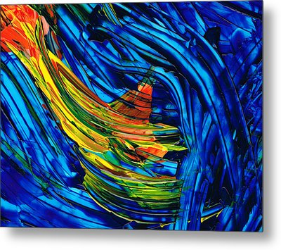 Colorful Abstract Art - Energy Flow 3 - By Sharon Cummings Metal Print by Sharon Cummings