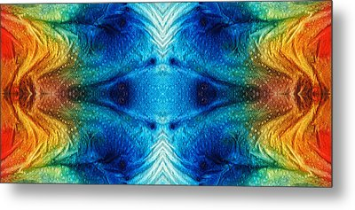 Colorful Abstract Art Pattern - Color Wheels - By Sharon Cummings Metal Print