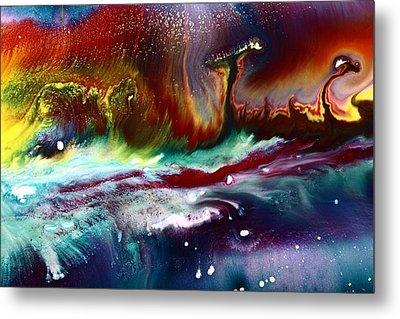 Colorful Abstract Art Vivid Colors Rainbow Landscape By Kredart  Metal Print