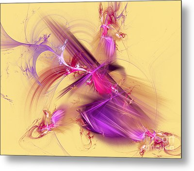 Colorful Abstract Background  Metal Print by Odon Czintos