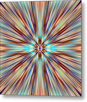 Colorful Abstract Metal Print by Cassie Peters