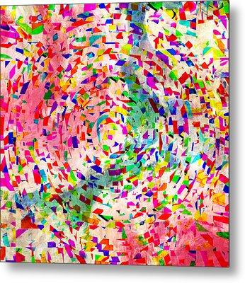 Colorful Abstract Circles Metal Print by Susan Leggett