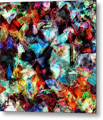 Metal Print featuring the digital art Colorful Abstract Design by Phil Perkins