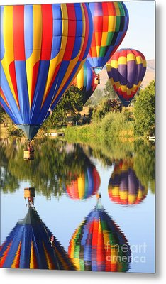 Colorful Balloons Fill The Frame Metal Print by Carol Groenen