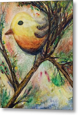 Colorful Bird Metal Print by Anais DelaVega