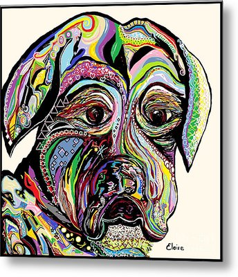 Colorful Boxer Metal Print by Eloise Schneider