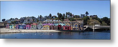 Colorful Buildings And Beach Metal Print