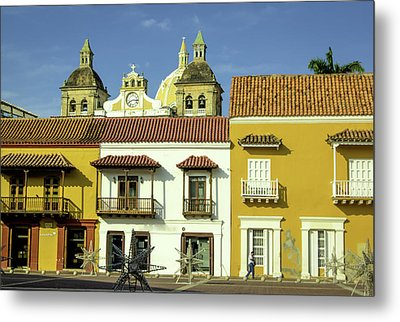 Colorful Buildings And Church Domes Metal Print by Jerry Ginsberg