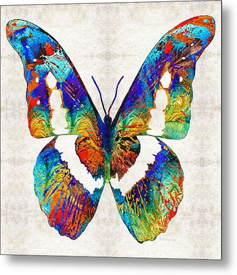 Colorful Butterfly Art By Sharon Cummings Metal Print