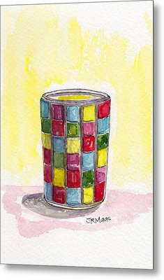 Colorful Candleholder Metal Print