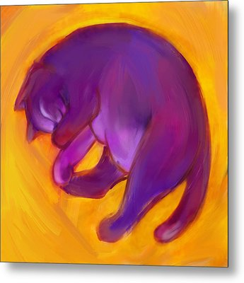 Colorful Cat 5 Metal Print by Anna Gora