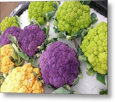 Metal Print featuring the photograph Colorful Cauliflower by Caryl J Bohn